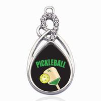 ingrosso braccialetto che fa l'artigianato-Pickleball Circle Charm Charm Gold / Sliver Pendenti per collana / braccialetto Creazione di risultati di gioielli Fai da te fatti a mano regali artigianali