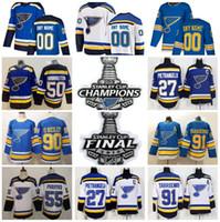 tyler bozak jersey großhandel-2019 Stanley Cup Finale Meister St Louis Blues David Perron Patrick Maroon Trikot Tyler Bozak Vince Dunn Joel Edmundson Sundqvist Thomas