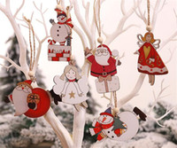 Wholesale multi angle for sale - Group buy Christmas Tree Angle Santa Snowman Wooden Pendants Ornaments Xmas DIY Wood Crafts Kids Gift for Home Christmas Party Decorations