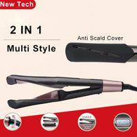 cerâmica de curling ferros venda por atacado-Professional Hair Straightener 2 em 1 Spiral endireita Curling Iron rápido aquecimento de cerâmica Flat Iron Ferramenta Styling