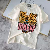 ingrosso nuova moda progettazione-19ss nuovo marchio di moda italiana design tigre testa stampa T-shirt uomo e donna traspirante moda strada felpa T-shirt esterna