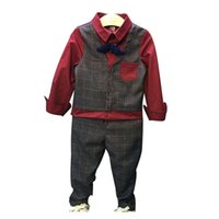 ingrosso i ragazzi si adattano ai bambini coreani dei vestiti-Completi per bambini Completi per bambini. Versione coreana Falso in due pezzi