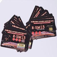 cdma wcdma tarjeta sim al por mayor-Nuevo RSIM13 Desbloqueo perfecto ios12 RSIM 13 Activación inteligente desbloqueo de tarjeta SIM ICCID unccoking rsim13 para iPhone iOS12 4G CDMA GSM WCDMA SB Sprint