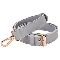 девушки, стянутые кожей оптовых-Detachable Strap Replacement Bags Straps Women Girls PU Leather Shoulder Bag Parts Accessories Gold Buckle Belts 152cm Gray