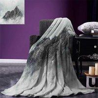 jade asiático venda por atacado-Montanha Blanket Paisagem de Jade Dragon Mountain Atmosfera na Cúpula asiática Natural imagem Beleza cobertores quentes para Camas