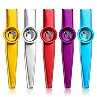 флейты оптовых-Простой дизайн легкий портативный металлический казу легкий для начинающих флейта инструмент любителей музыки духовой инструмент