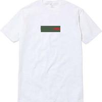 x hombres visten al por mayor-¡parte superior! Logotipo de la caja de UNHS x G verde rojo Ropa de calle Europa París Moda Hombre Alta calidad Camiseta de algodón Casual Hombre Mujer Camiseta Camiseta S-XL 3colors