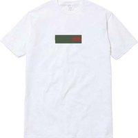 x erkekler giyim toptan satış-üst! UNHS kutusu logosu x G yeşil kırmızı Sokak Avrupa giymek Paris Moda erkekler Yüksek Kaliteli Pamuk Tshirt Casual Adam Kadınlar Tee T-shirt S-XL 3 renkler