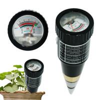 medidor de humedad higrómetro al por mayor-Nueva llegada Medidor de humedad de humedad de mano Probador de pH para suelo de jardín Sonda de metal Vt-05 10-80% Higrómetro 18% de descuento T8190619