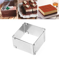 Wholesale eco chocolate mould for sale - Group buy 15 CM Adjustable Stainless Steel Cake Square Mold Chocolate Mousse Ring Baking Accessories Cake Decorating Tools