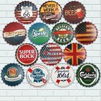 yuvarlak kalay levhaları toptan satış-35cm Şişe Kapağı Duvar Koleksiyonu Whisky Vintage Plak Metal Metal Tabelalar Cafe Bar Pub Tabela Retro Nostalji Yuvarlak Tabaklar Poster yap