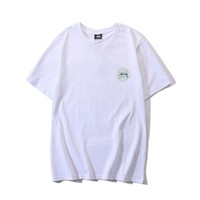 Wholesale white shirt luxury for sale – custom Stussy Mens Fashion Designer T Shirts Hip Hop Luxury Short Sleeve Suitable Women Men Pattern Print Tees Size M XL