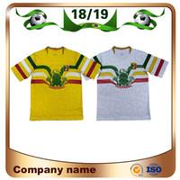 ingrosso maschio xl-Novità 2019 Mali Soccer Jerseys 19/20 Mali Home White Away giallo Calcio Maglie manica corta personalizzata National Football Uniform