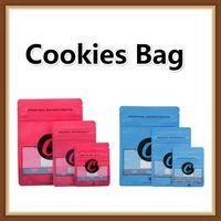 kekse stehen großhandel-Top-Qualität 3.5g Cookies riechen Proof Taschen mit Kind Proof Stand Up Pouch Dry Herb Blumen