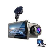 ver parque de monitores al por mayor-Coche DVR de 2 canales de lente dual 1080P que conduce el registrador de vídeo dashcam 4 pulgadas Full HD 170 ° de ancho ángulo de visión de la visión nocturna monitor de estacionamiento G-sensor