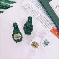 Wholesale led digital watches for ladies for sale - Group buy 2019 Hot Selling Man Male Sport Watches Square Dial Charm Women Lady Dress Watches Casual LED Display Quartz Wristwatches for Boy Students
