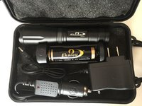 batería linterna xml t6 al por mayor-Ekaiou k20 XML T6 3800lm linternas led Linternas antorcha táctica con zoom antorcha con 18650 cargador de batería set de cajas de regalo