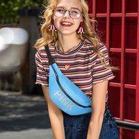 bolsas de lona coloridas venda por atacado-Cintura Saco de Peito de Lona das Mulheres Saco Colorido Zíper Strap Sacos de Cinto Da Cintura Para A Menina Ocasional Do Telefone Do Curso Bolsa Mensageiro Pacote A50