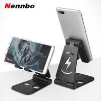 Wholesale plastic holder for tablets for sale – best Universal Adjustable Mobile Phone Holder For iPhone Huawei Xiaomi Samsung Plastic Phone Stand Desk Tablet Folding Stand Desktop