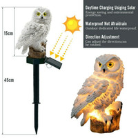 Wholesale light lamp fake for sale - Group buy Umlight1688 Owl Solar Light With Solar LED Panel Fake Owl Waterproof Outdoor Solar Powered Led Path Lawn Yard Garden Lamps