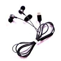 kulaklık hattı kontrolü toptan satış-Mikrofonla C Tipi fiş-in-kulak mikrofon C tipi kulaklıklar kablolu metal kulaklık in-line kontrol