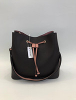 Wholesale cross body bags for resale online - 2020 Genuine PU Leather Cross Body Shoulder Bags for Women Girl Fashion Simple Portable Leisure Bucket Bag