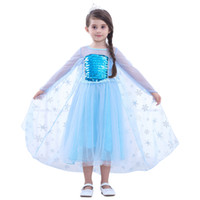 anime girl kostümleri toptan satış-Prenses Giydirme Kız Çocuk Kısa Kollu Pullarda Glitter Patchwork Cosplay Prenses Elbise Etek Çocuk kılık kıyafetleri O-OA6894