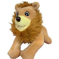 aslan dolması hayvan toptan satış-Aslan Kral Peluş Oyuncaklar kawaii Yumuşak Topluca Doldurulmuş Hayvanlar Komik Oyuncak Bebek Düğün Doğum Günü Partisi Noel Dekorasyon için