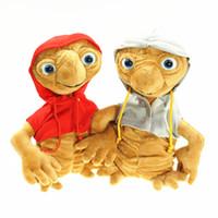 ingrosso vestiti yiwu-E.T Alien Plush Doll 20cm Extra terrestre Alien con vestiti Anime Cartoon Soft Big Egg farcite Dolls OOA6380