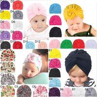 ingrosso fiori della fascia-Candy Colors Baby Coniglio fasce Fiori Stampa bambini Accessori per capelli moda adorabile arco per bambini babyhairband
