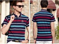 ingrosso mens moda polo-Designer Polo Mens Polo Camicie Uomo T shirt di lusso manica corta T-shirt alla moda Cavaliere Tops Abbigliamento 3 colori facoltativi caldo