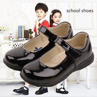 Wholesale black shoes for school for sale - Group buy Kids school shoes for girls princess Shoes Student Performance chaussure fille Black Dress girls T