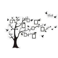 Wholesale translucent sticker for sale - Group buy Large Black Memory Tree Photo Tree D Wall Sticker Translucent Film Waterproof Environmental Protection