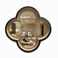 антикварные декоративные зеркала оптовых-67смx67см европейский стиль античный старый американский кантри настенный декор вход украшения ванной зеркало в стене декоративное зеркало