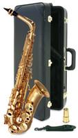 saxofone de ouro alto sax venda por atacado-Brand New YANAGISAWA Alto Saxofone A-992 Ouro Laca Sax Profissional Bocal Patches Pads Palhetas Curva de Pescoço