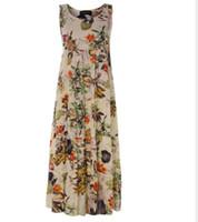 vestido popular para la fiesta al por mayor-Mujeres que imprimen el vestido de fiesta 2019 Popular sin mangas de cuello cuadrado sexy vestidos largos Mujeres Elegante vestido de primavera verano