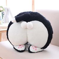 brinquedo de pelúcia senhora venda por atacado-BuRest Escritório engraçado macio dos desenhos animados Gato Sentado Ladies Blanket Plush Quente Almofada + Plush Toy Presente romântico