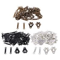 coser cierres al por mayor-20 Conjuntos de cobre Coser de cierres de gancho y ojo de sujetadores para los pantalones vaqueros de los guardapolvos de Cheongsam Mochilas Accesorios de costura