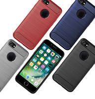 karbon fiber iphone toptan satış-IPhone 7 için Artı iPhone XS Max Durumda Arka Kapak Kılıf Buzlu Karbon Fiber Kılıf iphone 7 8 X XR
