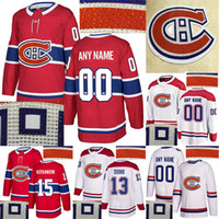 Wholesale canadiens jersey numbers resale online - Montreal Canadiens Hot drilling Jesperi Kotkaniemi Shea Weber Carey Price Max Domi Customize any number any name hockey jerseys