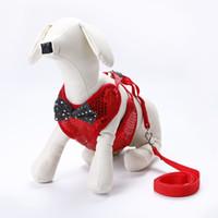 tasma satıldı toptan satış-Pul Koşum Bow Çekme Halat Nefes Moda Pet Köpek Aksesuarları Bez Tasmalar Çeşitli Renk Ile Iyi Satmak 12pe J1