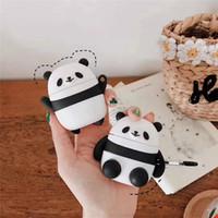 fones de ouvido chineses venda por atacado-Chinês Panda Design Dos Desenhos Animados Capa Shell para iphone airpods Caso Protetor de Fone De Ouvido Sem Fio para apple airpod case Durável Headset Pouch