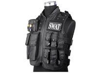 chaleco negro airsoft al por mayor-SWAT Chaleco Táctico Militar Airsoft Paintball CQB Combate de Tiro SWAT MOLLE Chaleco Negro BD2877 # 290009