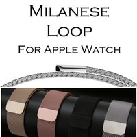 Wholesale apple watch bands milanese for sale - Group buy Milanese Loop Band For Apple Watch mm mm mm mm Stainless Steel Strap Bracelet Metal Watchband For Iwatch Series