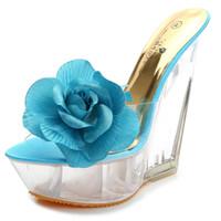 14cm'lik kamalar toptan satış-14cm Topuk Yüksekliği Seksi PU Yuvarlak Toe kama Topuk sandalet No.11616