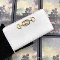 deri cüzdan etrafında fermuarlı toptan satış-cüzdan etrafında Kadın çantası lüks tasarımcı çanta grenli deri fermuar 570.661 1B90X 9022 kadın moda cüzdan boyutu 19 * 10 * 3com