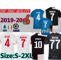 camisa de futebol tailandia qualidade xxl venda por atacado-2019 2020 home Juventus Camisa De Futebol KIDS DYBALA RONALDO Camisa De Futebol 18 19 20 Personalizado camisas de futebol MARCHISIO MANDZUKIC