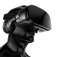 android için 3d gözlük toptan satış-G300 VR KUTUSU Süper Bas 3D VR Gözlük Kutusu Kulaklık için 4.5-6.2 Inç Özel Kolu Ile IOS Android + C8 Smartphone Oyun Denetleyicisi 30 adet