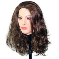 ingrosso schiavitù maschile-Hot qualità lattice di alta Maschera feticistica Mask Bondage Gomma Donna mascherina mascherine Dress realistico Halloween Party lattice Veste diversamente