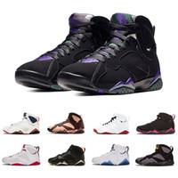 x uçuş toptan satış-2019 yeni varış açık Patta X 7 Ray Allen Olimpiyat 7 s Atletik Basketbol Ayakkabı Uçuş Geçmişi Hare Raptor spor Sneakers 41-47